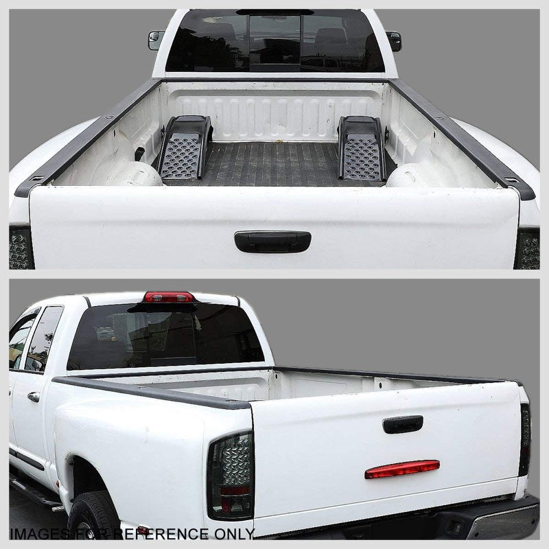 2PCS Truck Bed Cap Rail Protector Cover W/Hole For 07-14 Sierra 2500HD 8Ft Bed-Exterior-BuildFastCar