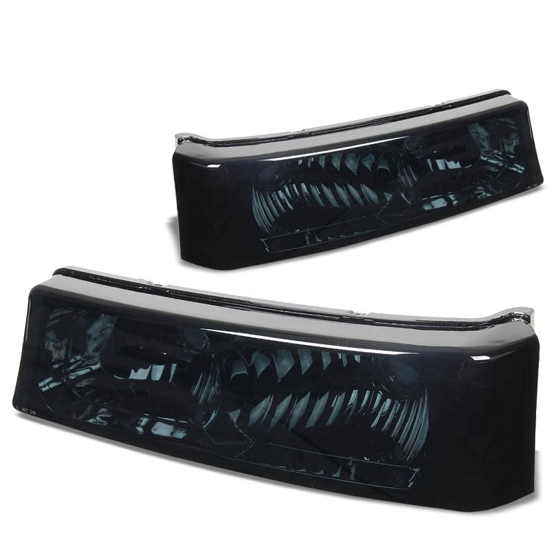 Turn Signal Bumper Light Chrome/Smoke Lens/Amber For 03-07 Silverado/Avalanche-Lighting-BuildFastCar-BFC-BUMLILED-2PCHEVSIL03-SMAM