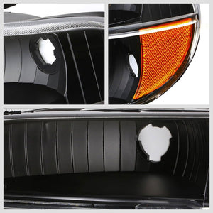 Turn Signal Bumper Light Black/Clear Lens/Amber Corner For 95-01 Ford Explorer-Lighting-BuildFastCar-BFC-BUMLILED-FORDEXP95-BKAM
