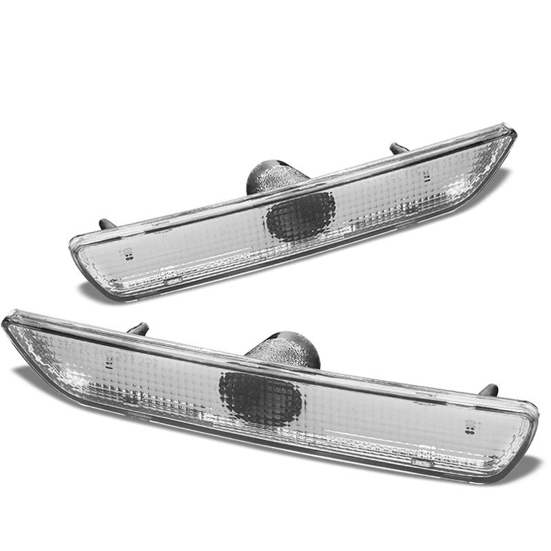 OE Style Turn Signal Bumper Light Chrome Housing/Clear For 10-14 Ford Mustang-Lighting-BuildFastCar-BFC-BUMLI-FORMUS10-CH
