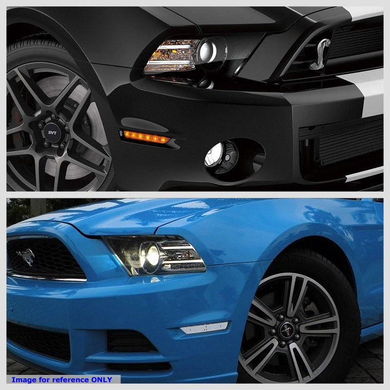 OE Style LED Turn Signal Bumper Light Chrome/Clear Lens For 10-14 Ford Mustang