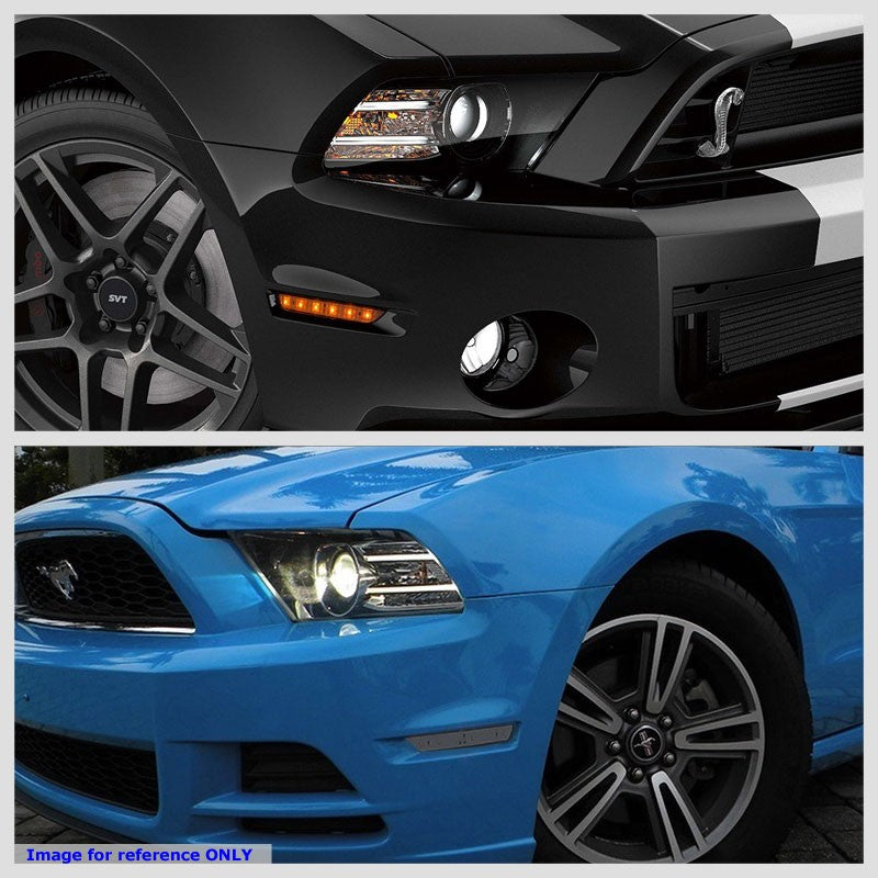 OE Style LED Turn Signal Bumper Light Black Housing/Smoke For 10-14 Ford Mustang