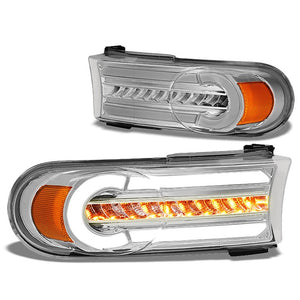 3D LED Front Turn Signal Bumper Light Chrome/Clear/Amber For 07-14 FJ Cruiser-Lighting-BuildFastCar-BFC-BL-BUMLILED-TOYFJ07-CH-AM