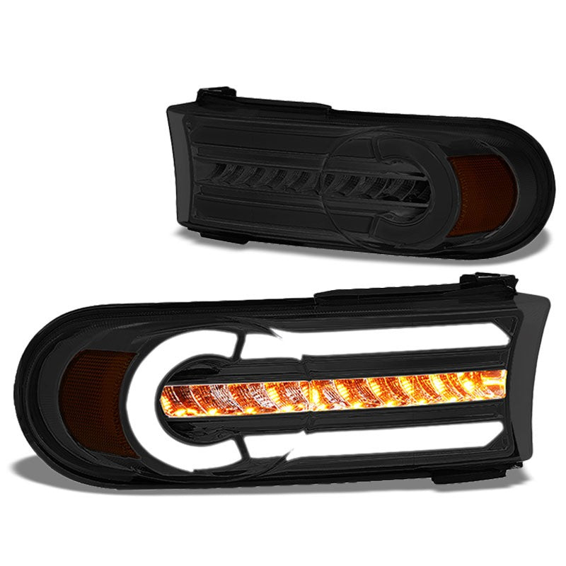3D LED Front Turn Signal Bumper Light Chrome/Smoke/Amber For 07-14 FJ Cruiser-Lighting-BuildFastCar-BFC-BL-BUMLILED-TOYFJ07-SM-AM