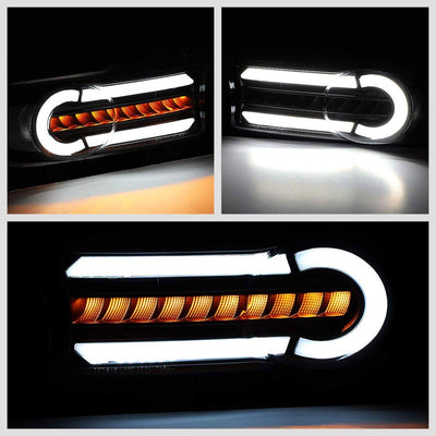 3D LED Front Turn Signal Bumper Light Chrome/Smoke/Clear For 07-14 FJ Cruiser-Lighting-BuildFastCar-BFC-BL-BUMLILED-TOYFJ07-SM-CL