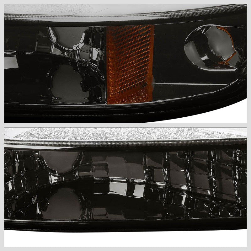 Turn Signal Bumper Light Chrome/Smoke Lens/Amber Corner For 99-06 Sierra/Yukon-Lighting-BuildFastCar-BFC-BUMLI-GMCSIE99-SMAM