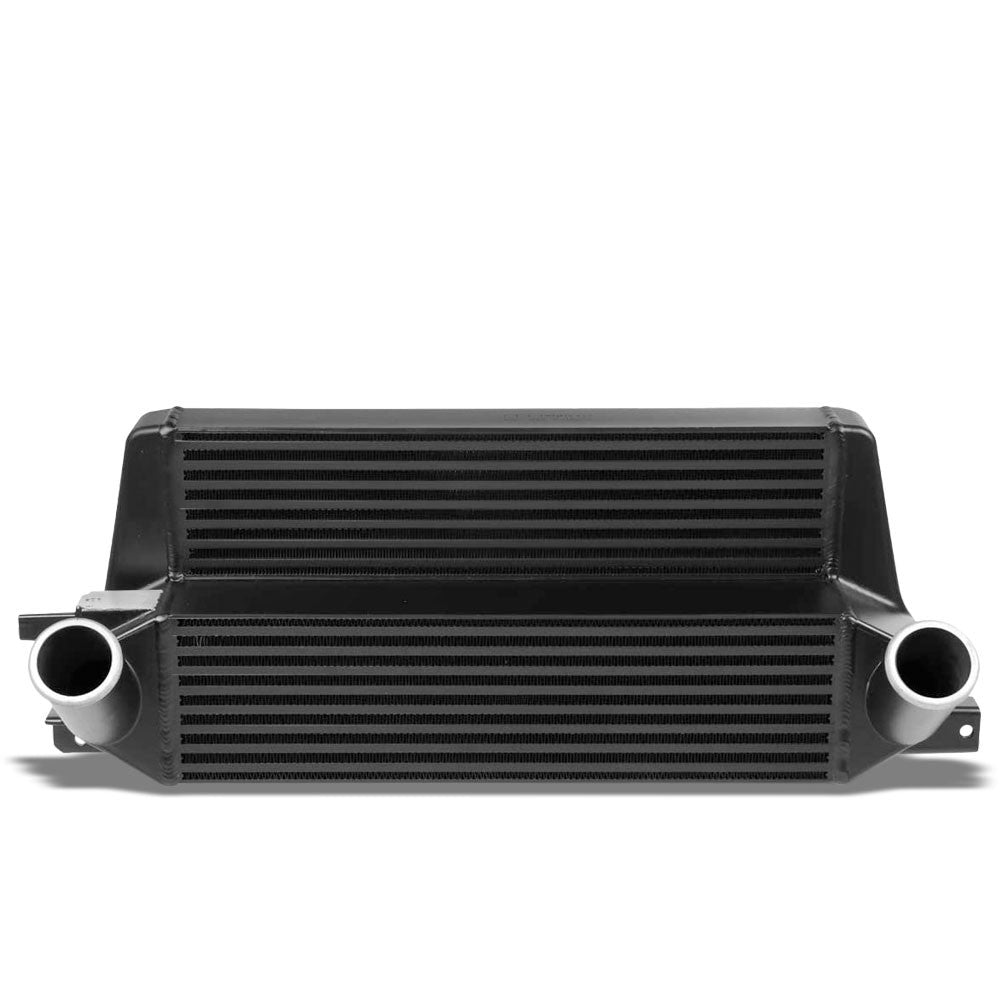 Black Front Mount Bar&Plate Intercooler 21X10.75 For 15-19 Mustang 2.3L Ecoboost