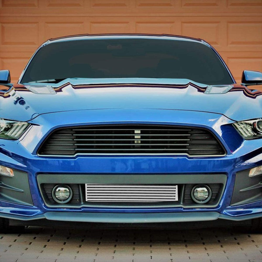 Metallic Front Mount Bar&Plate Intercooler 21X10.75 For 15-19 Mustang Ecoboost-Cooling Systems-BuildFastCar