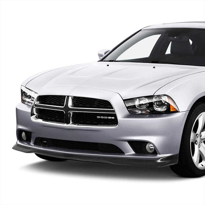 RA Style Front Bumper Lip Chin Wing Splitter Body Kit For 11-14 Dodge Charger-Exterior-BuildFastCar