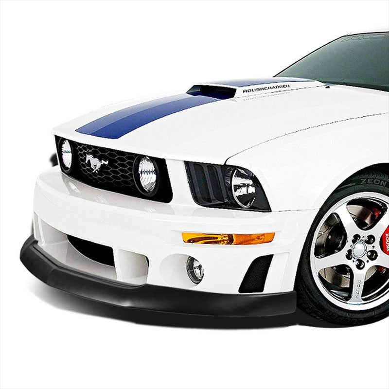 IKC Style Front Bumper Lip Chin Wing Splitter Body Kit For 05-09 Ford Mustang GT-Exterior-BuildFastCar