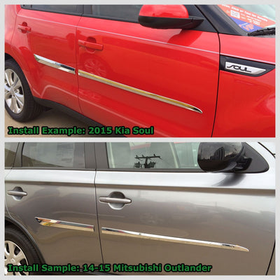 Silver Chrome Stick-on Body Side Molding Door Trim Body Protect 10-17 Equinox