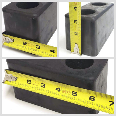 2x Molded Rubber Bumper Dock Buffer 6x3x3 For CHASSIS/TRAILER/VAN/FLATBED/REEFER-Wheel Parts-BuildFastCar-BFC-MBUMP-01-X2