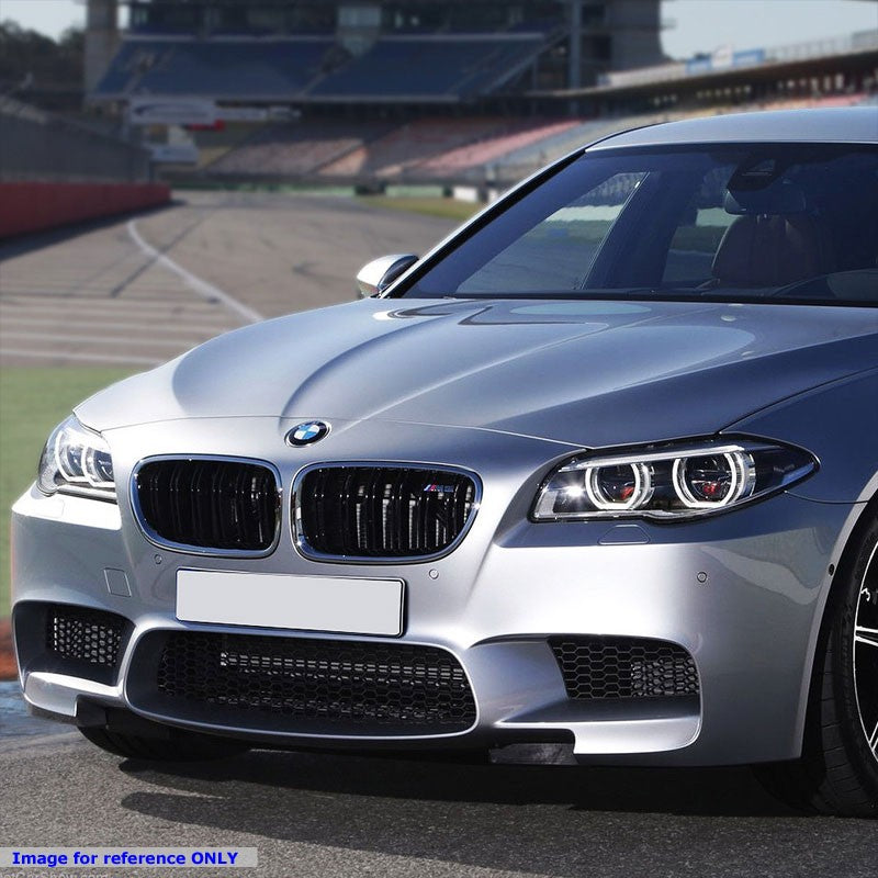 M5 Style (W/PDC) Front Bumper+Lower Grille+Fog Light For 11-16 BMW 5-Series-Exterior-BuildFastCar