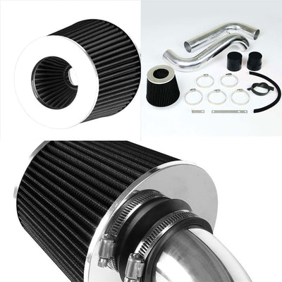 Polish Cold Air Intake+Black Filter For Acura 94-01 Integra GS/RS/LS 1.8L DOHC-Performance-BuildFastCar