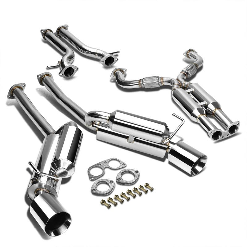 "4.5"" Dual Roll Slant Muffler Tip Exhaust Catback System TYP-2 For 09-19 370Z Z34-Performance-BuildFastCar"