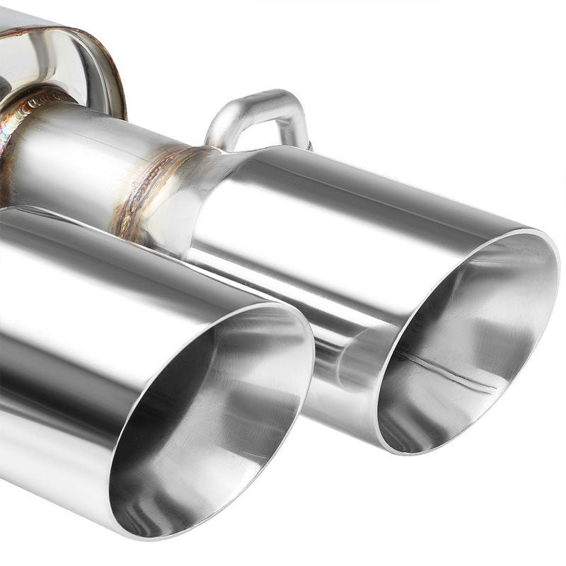 "3.5"" Dual Slant Muffler Tip Exhaust Catback System For 09-16 Audi A4 2.0L DOHC-Performance-BuildFastCar"