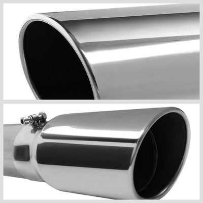 "5"" Round Tip Rolled Edge Straight Turboback Exhaust For 03-04 Dodge Ram 2500 5.9-Exhaust Systems-BuildFastCar-BFC-CATB-0304RAM2535-59D-SP"