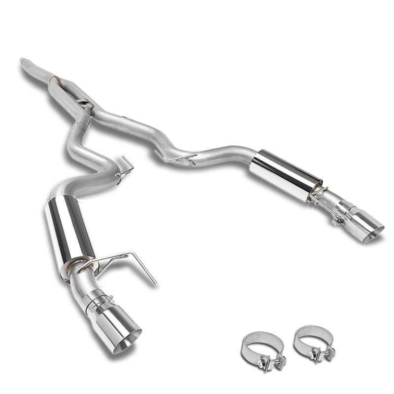 """Stainless Steel 4/"""" OD High Flow Downpipe For 15-19 Ford Mustang Ecoboost 2.3L"""