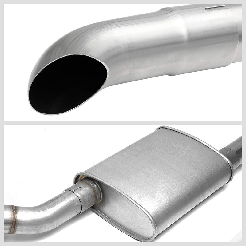 "2.5"" Dual Muffler Tip Exhaust Catback System For 87-93 Ford Mustang 5.0L V8-Performance-BuildFastCar"