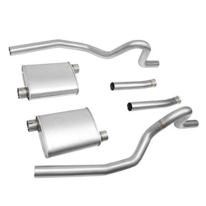 "2.5"" Dual Muffler Tip Exhaust Catback System For 94-95 Mustang GT/GTS/SVT Cobra-Performance-BuildFastCar"