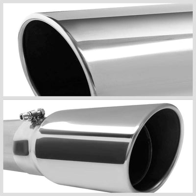 "5"" Round Tip Rolled Edge Turboback Exhaust For 93-00 Chevy C/K 6.5 Turbo Diesel-Exhaust Systems-BuildFastCar-BFC-CATB-9300CHVCK-65D"