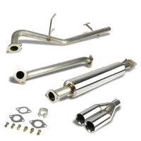 "2.5"" Dual Roll Muffler Tip Exhaust Catback System For 06-11 Kia Rio JB 1.6L DOHC-Performance-BuildFastCar"