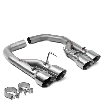 "Stainless Steel Axleback Exhaust System 4"" Tip For 18-20 Ford Mustang 5.0L V8"