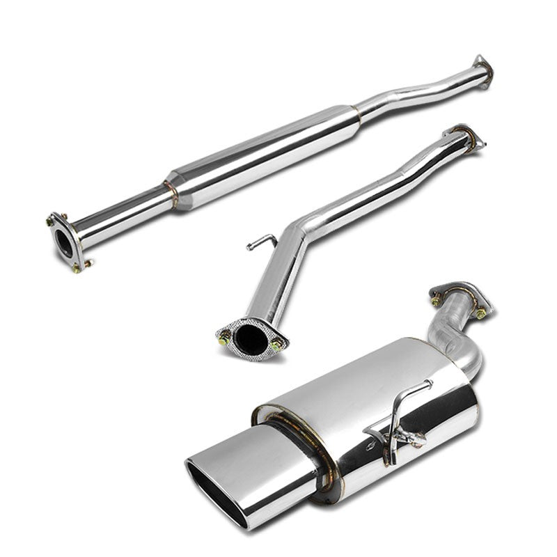 Oval RollMuffler Tip Exhaust Catback System For 02-06 Nissan Altima L31 2.5L-Performance-BuildFastCar