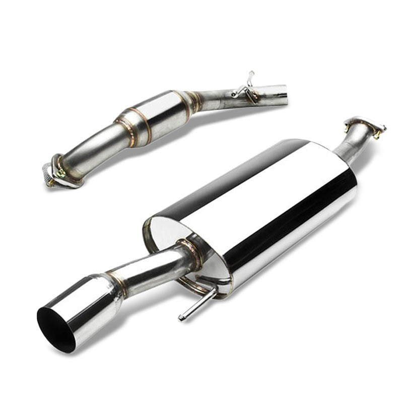 "3.5"" Round Muffler Tip Exhaust Catback System For 92-98 Volkswagen Golf MK3 SOHC-Performance-BuildFastCar"