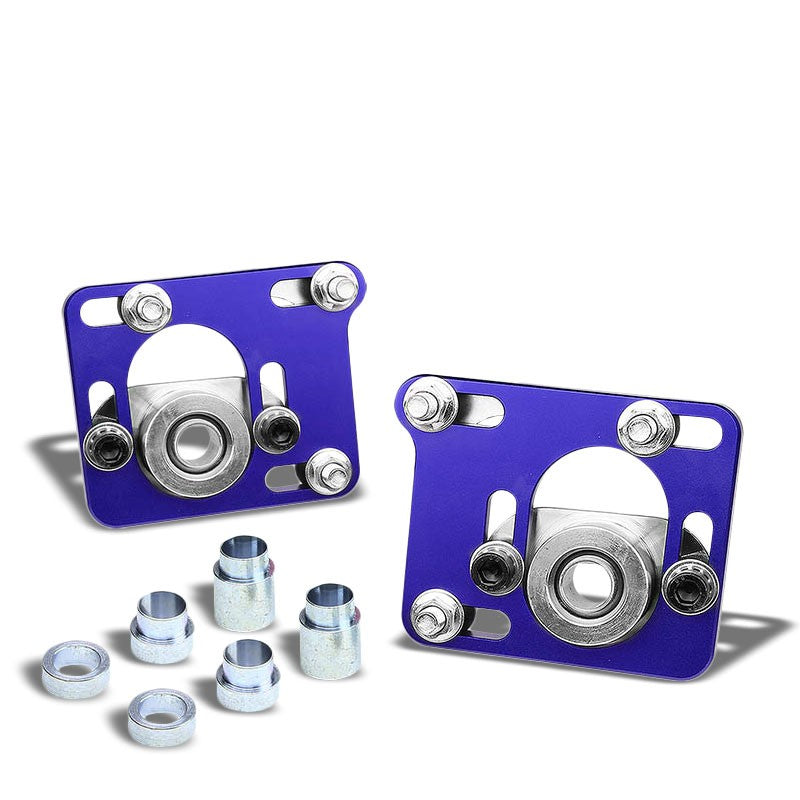 Aluminum Blue Front Adjustable +/-2.5 Camber Caster Plates Kit For 94-04 Mustang-Suspension-BuildFastCar
