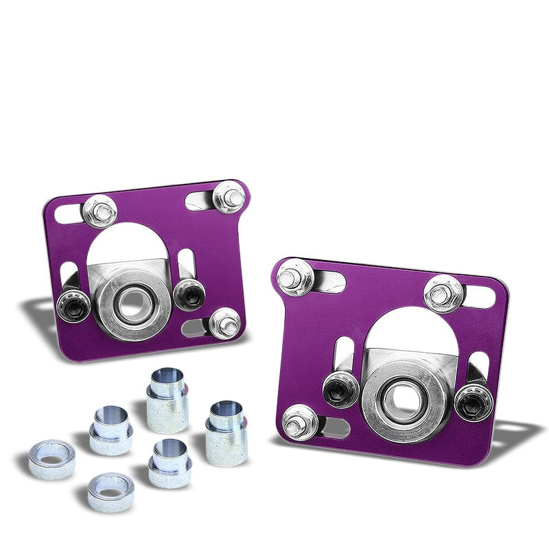 Aluminum Purple Front Adjustable +/-2.5 Camber Caster Plates For 94-04 Mustang-Suspension-BuildFastCar