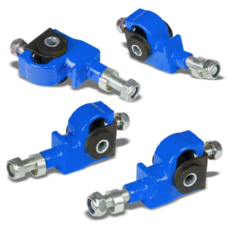 Blue Adjustable Front Camber Adjuster Kit for Accord/Civic/CRX/Prelude/Odyssey-Suspension Arms-BuildFastCar