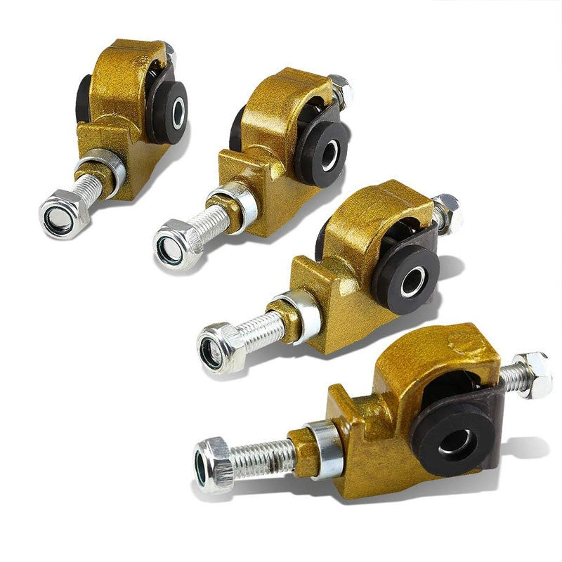 Gold Adjustable Front Camber Adjuster Kit for Accord/Civic/CRX/Prelude/Odyssey-Suspension-BuildFastCar