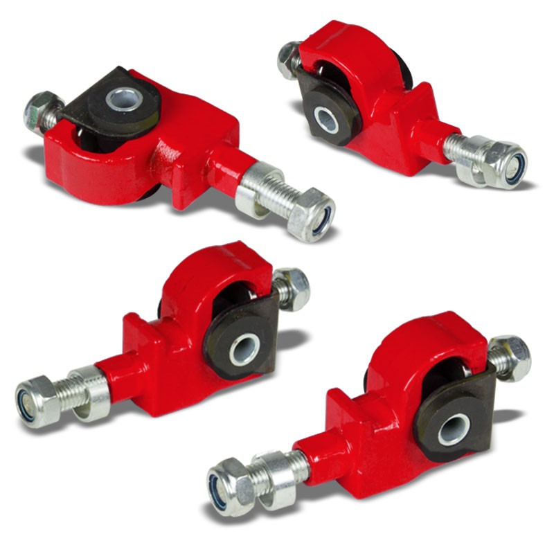 Red Adjustable Front Camber Adjuster Kit for Integra/Civic/Prelude/CRX/Del Sol-Suspension Arms-BuildFastCar