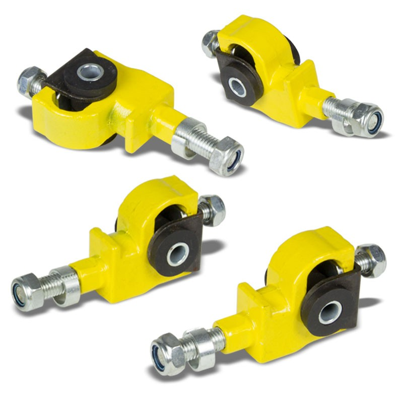 Yellow Adjustable Front Camber Adjuster Suspension for Honda/Acura Civic/Integra-Suspension Arms-BuildFastCar