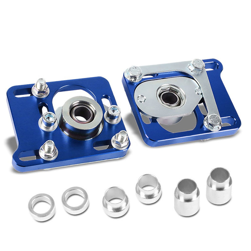 Front Adjustable Aluminum Blue Camber/Caster Plate T2 For 94-04 Ford Mustang-Suspension Arms-BuildFastCar