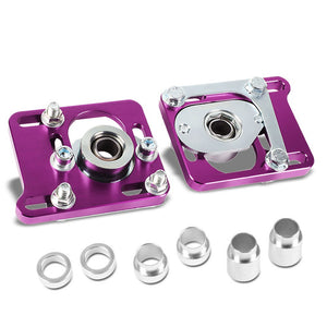 Front Adjustable Aluminum Purple Camber/Caster Plate T2 For 94-04 Ford Mustang-Suspension Arms-BuildFastCar