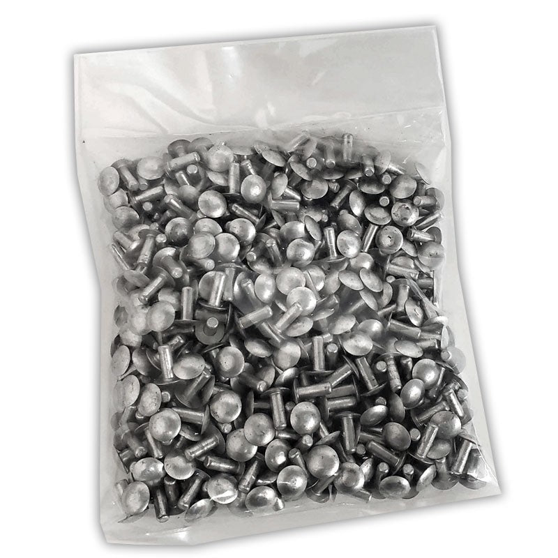 "100x L/13mm 3/16"" Dia Alu Brazier Head Solid Rivet Fastener Soft Trailer Repair-Hardware Fasteners-BuildFastCar-BFC-TTP-SRT-BZH-018-050-ST"