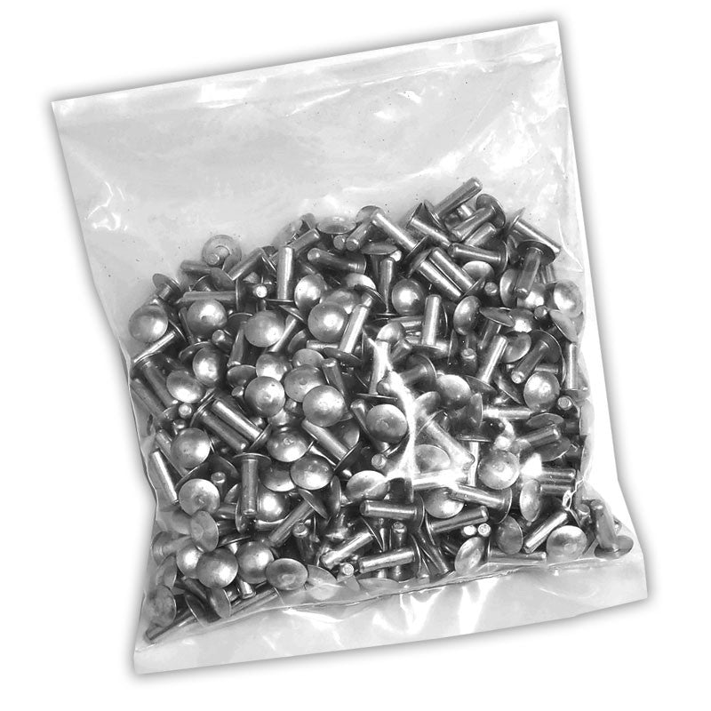 "100x L/16mm 3/16"" Dia Alu Brazier Head Solid Rivet Fastener Soft Trailer Repair-Hardware Fasteners-BuildFastCar-BFC-TTP-SRT-BZH-018-062-ST"