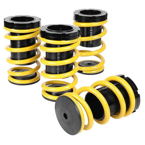 Front/Rear Scaled Adjust Yellow/Black Coilover Springs Kit For 01-05 Civic 2/4DR-Shocks & Springs-BuildFastCar