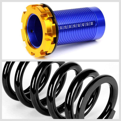 F/R Black Scaled Coilover Spring+Blue Gas Shock Absorbers TY22 For 94-01 Integra-Shocks & Springs-BuildFastCar