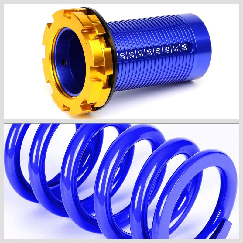 "Black/Blue Scaled 1""-4"" Adjust Lowering Coilover Spring TY22 For 90-01 Integra-Suspension-BuildFastCar"