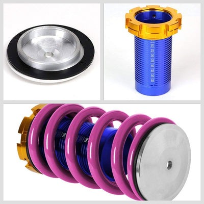 Adjust Purple Scaled Coilover Spring+Red Gas Shock Absorber TY22 For 88-91 Civic-Shocks & Springs-BuildFastCar