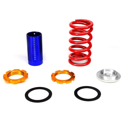 Adjust Red Scaled Coilover Spring+Silver Gas Shock Absorber TY22 For 88-91 Civic-Shocks & Springs-BuildFastCar