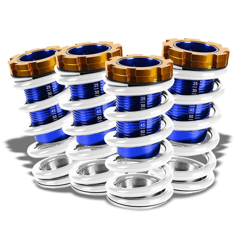 "Black/White Scaled 1""-4"" Adjust Lowering Coilover Spring TY22 For 90-01 Integra-Suspension-BuildFastCar"