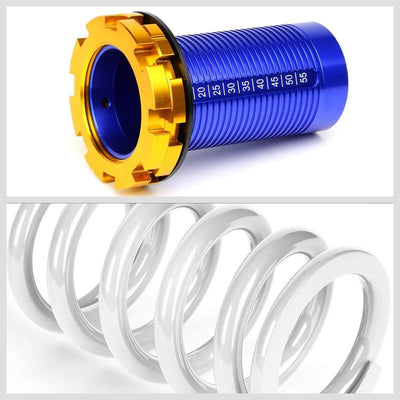 Adjust White Scaled Coilover Spring+Red Gas Shock Absorbers TY22 For 88-91 Civic-Shocks & Springs-BuildFastCar