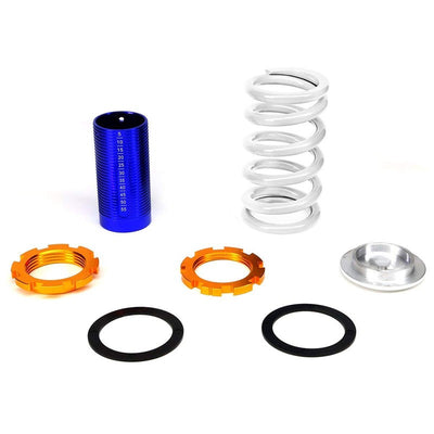Adjust White Scaled Coilover Spring+Blue Gas Shock TY22 For 96-00 Civic EJ/EK/EM-Shocks & Springs-BuildFastCar