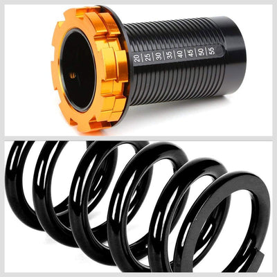 Adjust Black Scaled Coilover Spring+Red Gas Shock Absorbers TY33 For 88-91 Civic-Shocks & Springs-BuildFastCar