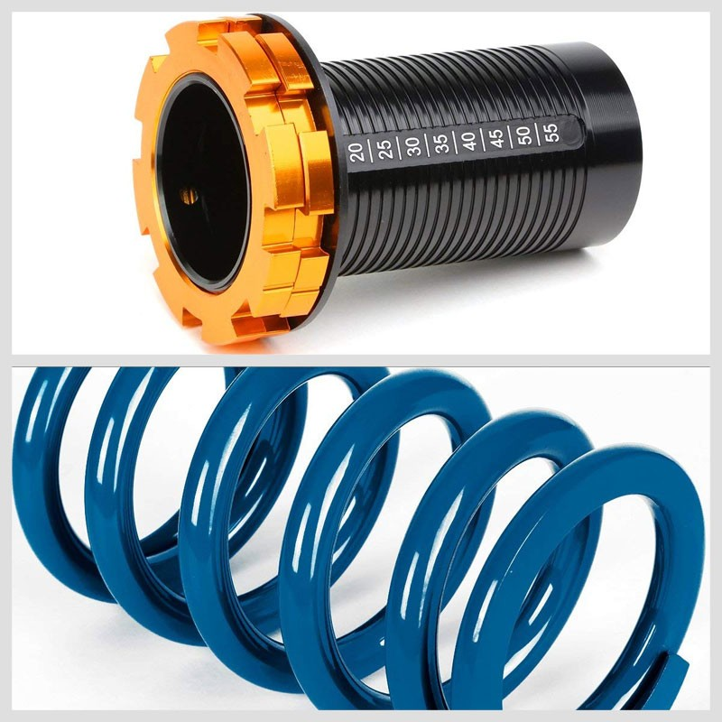 "Black/Blue Scaled 1""-4"" Adjust Lowering Coilover Spring TY33 For 90-01 Integra-Suspension-BuildFastCar"