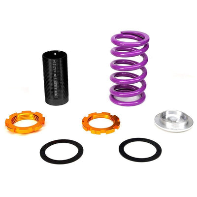 Adjust Purple Scaled Coilover+Silver Gas Shock Absorbers TY33 For 96-00 Civic-Shocks & Springs-BuildFastCar